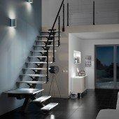 Escalier droit métal verre Urban