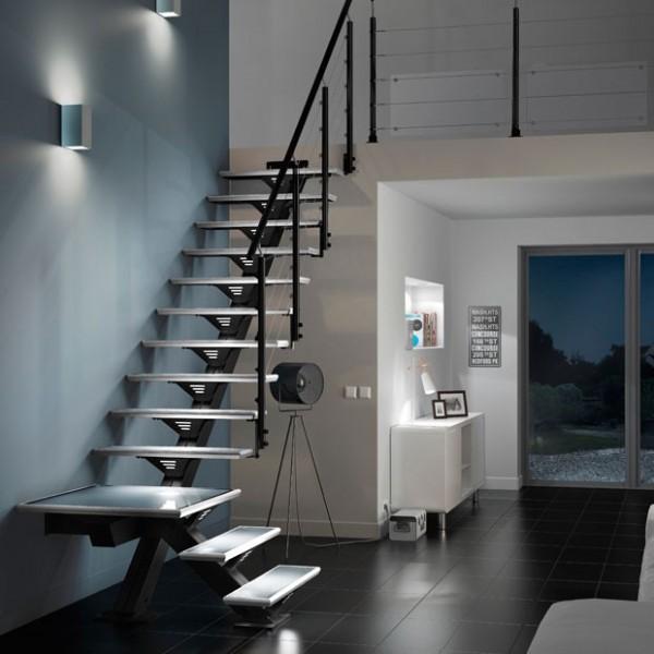 Escalier l 39 export dans les dom - Escaliers lapeyre metal ...